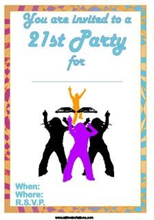 21st birthday invites print for free