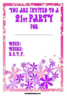 free 21st birthday party invitations - all free invitations, Birthday invitations