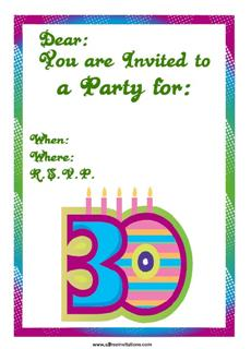 30th birthday invitation modern