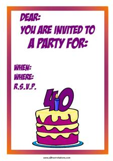 Purple yellow 40th cake