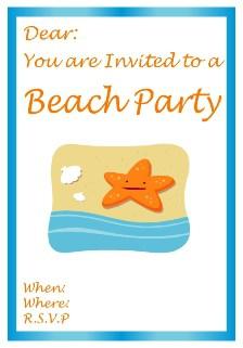 Beach party dancing