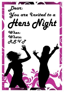 free invitation for hens party