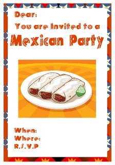 mexican themed party invitation