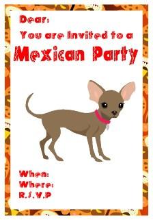 chiuaua party invitation