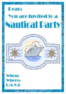 Blue ocean theme invite