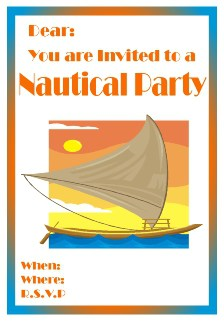 Sailing boat invitation