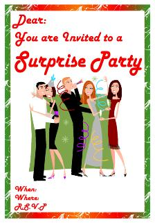 surprise party free invitations