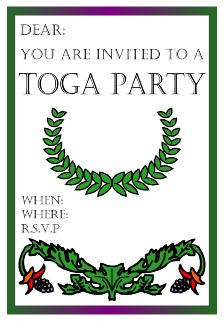 greek symbols college toga party