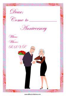 Anniversary celebration invite smart couple