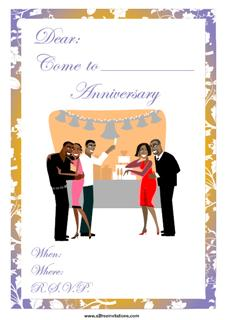 Anniversary party invitation people