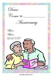 Anniversary invitation old couple wedding