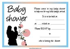 baby shower invitation pink blue