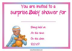 blue jumpsuit baby shower invitation