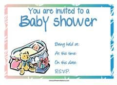 Baby teddy bear shower invitation