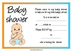 All Free Invitations  Printable Baby Shower Invite