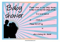 Free rising sun baby shower invitation