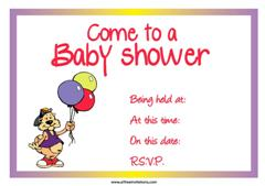 baby shower invite balloons