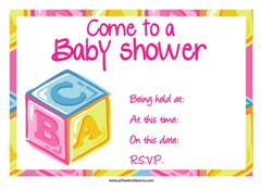 ABC Baby shower invitation free
