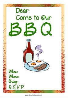 BBQ invitation snags n sauce
