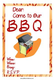 Barbeque party invitation