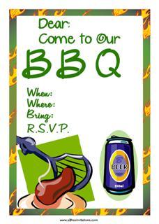 Green beer BBQ invitation