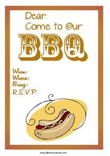 BBQ western themed invite