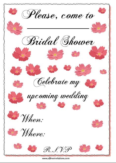Free bridal shower invitations all free invitations filmwisefo Choice Image