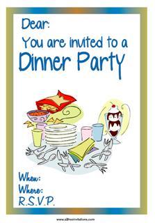 informal dinner invitation