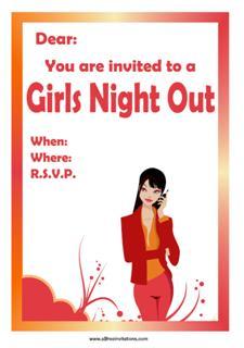 Girls night sophisticated invitation