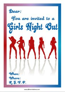Girls night out free printable invitation