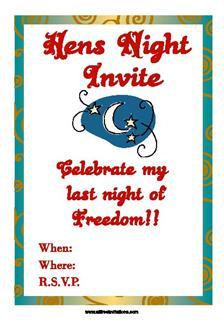 Hens night party invitations