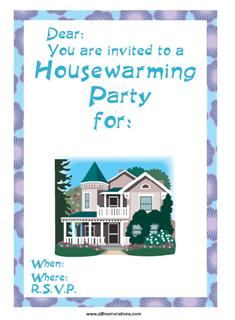 Housewarming invite free printable