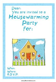 house party invitation sunny cottage