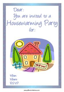 House party housewarming free printable