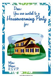 house warming party invitation beach shack