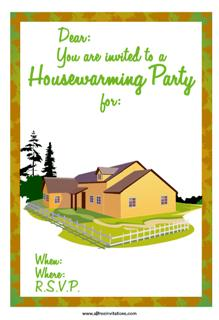 Country house warming invite party