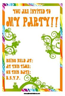 pirate party kids invitation FREE