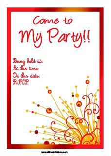 Free prinable online invitations