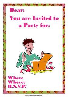 party invitation present surprise