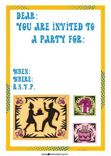 Mambo style dancing party invitation abstract