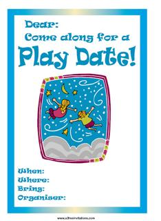Free Play Date Invitations - All Free Invitations