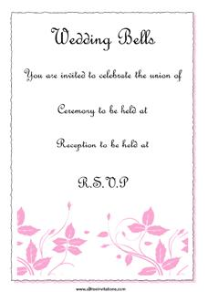 pink and black wedding invitation theme